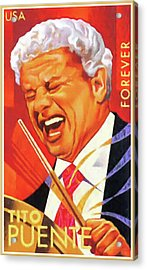 Tito Puente Acrylic Print by Lanjee Chee