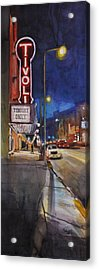 Tivoli Theatre Acrylic Print by Spencer Meagher
