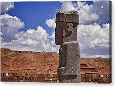 Tiwanaku And Puma Punku 9 Acrylic Print by Skip Hunt