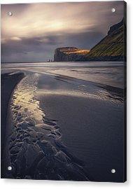 Tjornuvik Beach Acrylic Print