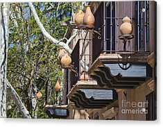 Acrylic Print featuring the photograph Tlaquepaque Balconies by Chris Dutton