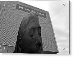 Acrylic Print featuring the photograph Tampa Museum Of Art Work B by David Lee Thompson