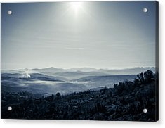 To A Peaceful Valley Acrylic Print by Andrea Mazzocchetti