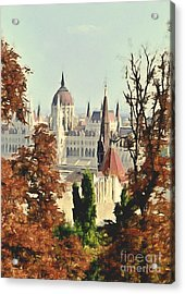 To Budapest With Love Acrylic Print