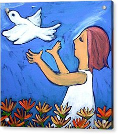 Acrylic Print featuring the painting To Fly Free by Winsome Gunning