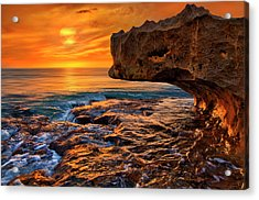 To God Be The Glory - Sunrise Over Ocean Reef Park On Singer Island Florida Acrylic Print