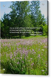 To Live Light In The Spring Acrylic Print