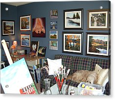 Acrylic Print featuring the painting To Our Arts Content by Diane Daigle