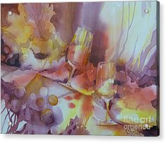To The Bottom Of The Glass Acrylic Print by Donna Acheson-Juillet