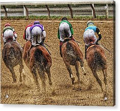 To The Finish Acrylic Print