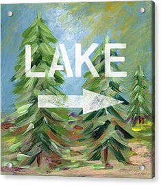 To The Lake - Art By Linda Woods Acrylic Print by Linda Woods