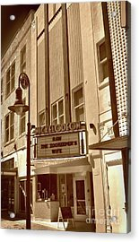 Acrylic Print featuring the photograph To The Movies by Skip Willits