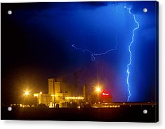 To The Right Budweiser Lightning Strike Acrylic Print by James BO  Insogna