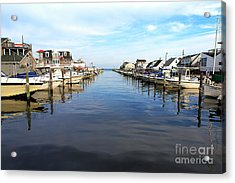 To The Sea At Lbi Acrylic Print by John Rizzuto