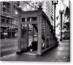 To The Subway - 2 Acrylic Print