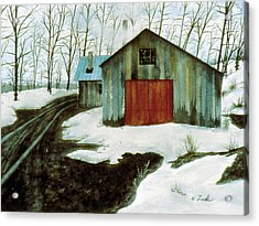 Acrylic Print featuring the painting To The Sugar House by Karen Zuk Rosenblatt
