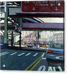 To The Triboro Acrylic Print by Patti Mollica