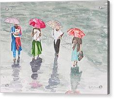 To Work In The Rain Acrylic Print