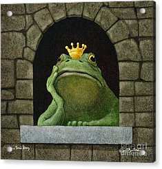 Toad King... Acrylic Print by Will Bullas