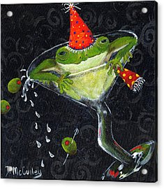 Toadally In Glass Acrylic Print by Debbie McCulley