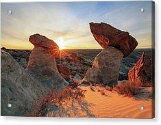Toadstool Sunrise Acrylic Print