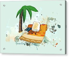 Acrylic Print featuring the digital art Toasted Illustrated by Heather Applegate