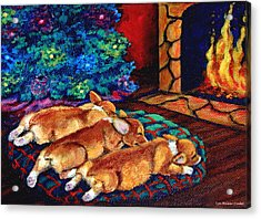 Toasty Toes Acrylic Print by Lyn Cook