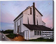 Tobacco Barn At Dusk Acrylic Print
