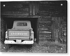 Tobacco Barn Chevy Acrylic Print