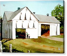 Tobacco Barn Acrylic Print by Faye Ziegler