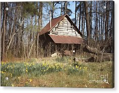 Acrylic Print featuring the photograph Tobacco Barn In Spring by Benanne Stiens