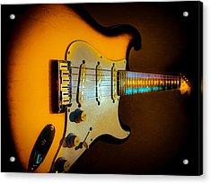 Tobacco Burst Stratocaster Glow Neck Series Acrylic Print