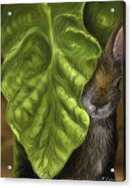 Acrylic Print featuring the digital art Tobacco Hare by Meagan  Visser