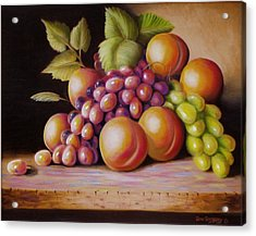 Acrylic Print featuring the painting Todays Harvest by Gene Gregory