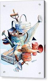 Todays Toil Tomorrows Pleasure II Acrylic Print by Hanne Lore Koehler