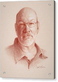 Todd, Self Portrait Acrylic Print by Todd Baxter
