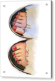 Toes 01 Acrylic Print