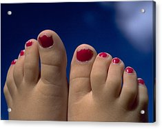 Toes Acrylic Print by Michael Mogensen