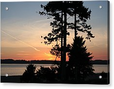 Tofino Sunset IIi Ss 1031 Acrylic Print by Mary Gaines