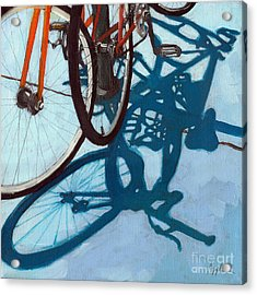 Together - City Bikes Acrylic Print by Linda Apple