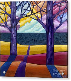 Acrylic Print featuring the painting Together Forever by Carla Bank