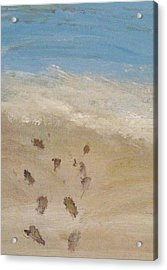 Acrylic Print featuring the painting Together To The Waves by Trilby Cole