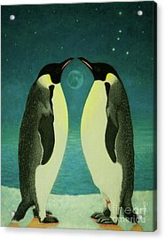 Together Under The Moon Acrylic Print by Shelley Irish