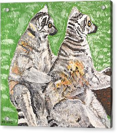 Together Acrylic Print by Valerie Ornstein