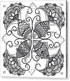 Together We Flourish - Ink Acrylic Print