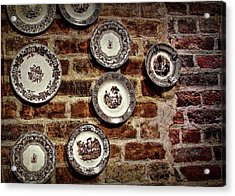 Tiole Plates Acrylic Print by JAMART Photography
