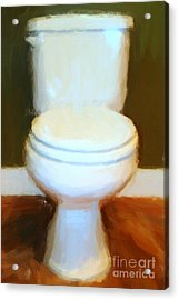 Toilet Acrylic Print by Wingsdomain Art and Photography