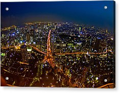 Acrylic Print featuring the photograph Tokyo At Night by Dan Wells
