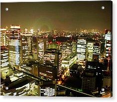 Tokyo Skyline Acrylic Print by Nancy Ingersoll