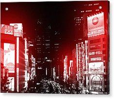 Tokyo Street Acrylic Print by Naxart Studio